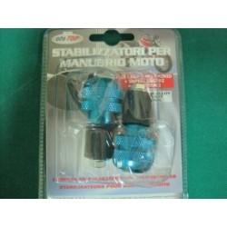 Stabilizzatori manubrio in lega alluminio Blu