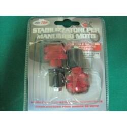 Stabilizzatori manubrio in lega alluminio Rosso