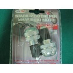 Stabilizzatori manubrio in lega alluminio Silver