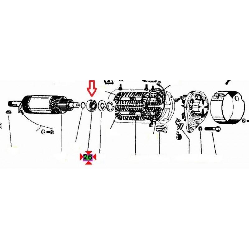 Schema Elettrico Ape Tm 703 : Cuscinetto a sfere motorino avviamento efel originale