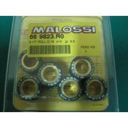 Serie massette rulli variatore D. 16 x 13 gr. 8,5 Malossi