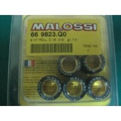 Serie massette rulli variatore D. 16 x 13 gr. 7,5 Malossi