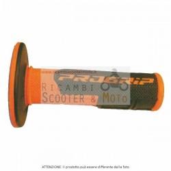 Manopole Cross Dual Density Arancio Fluo Progrip Universale 801/F A