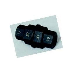 Attacco a 4 esagoni mm 17 19 22 24 blocca/sblocca asse ruota