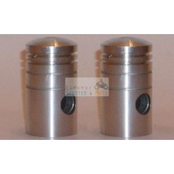 Coppia Pistoni Completi Piston Kolben Puch 150 Tl 1954-1960 Twingle 41,5
