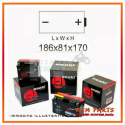 Batteria 12N20Ah Con Acido Asaki Bmw K 1200 Gt Abs 1200 2005-2008