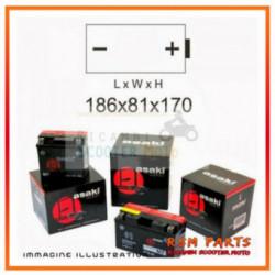Batteria 12N20Ah Con Acido Asaki Bmw K 1200 Lt Abs 1200 2005-2009