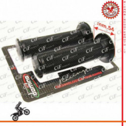 Coppia Manopole Domino Dakar Scooter Moto Nere 128Mm Diametro 20-24 Mm