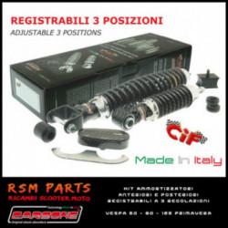 Ammortizzatori Vespa 125 ET3 Primavera Anteriori Posteriori Regolabili Carbon Look