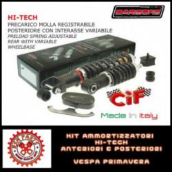 Kit Ammortizzatori Hi Tech Vespa 90 S SS Anteriori Posteriori Carbon Look