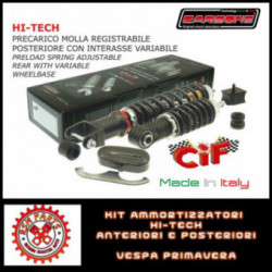 Kit Ammortizzatori Hi Tech Vespa 125 ET3 Primavera Anteriori Posteriori Carbon Look