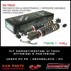 Kit Ammortizzatori Hi Tech Vespa PX 150 E Arcobaleno Anteriori Posteriori