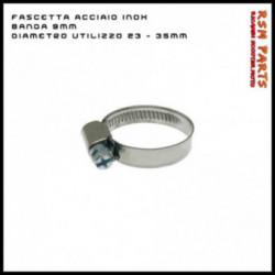 Fascetta In Acciaio Inox Banda 9Mm E Diametro Utilizzo 23-35 mm