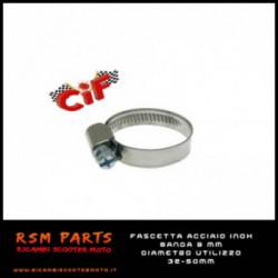 Fascetta In Acciaio Inox Banda 9Mm E Diametro Utilizzo 32-50 mm