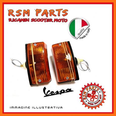 Coppia Frecce indicatori fanalini Anteriori Vespa PX 125 150 PE 200