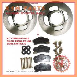2 dischi freno anteriore Ø 220 pastiglie AIXAM COUPE 2010