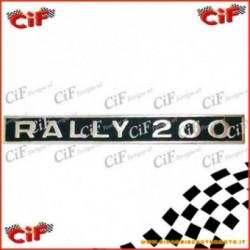 Targhetta Scritta Vespa Rally 200 1972-1974 Parte Posteriore
