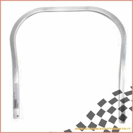 Perfil de borde de escudo de plástico gris plateado Piaggio Vespa PK 50 S