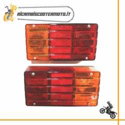 Coppia fanalini stop posteriori Piaggio Ape TM P 602 82 - 83