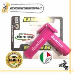 Coppia manopole standard Domino Moto Scooter Fucsia Bianco