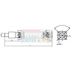 Achse Getriebe Piaggio Porter Länge 4455 Millimeter