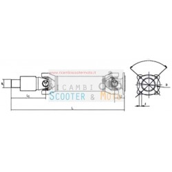 Achse Übertragungslänge mm 5155 Piaggio Porter