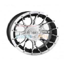 14x8 círculo (Ete10) 4 / 110-4 / 115 Diablo quad ATV Estandar Negro Cromo