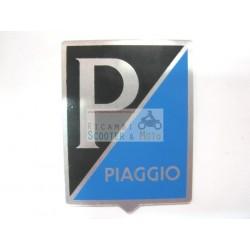 Targhetta fregio emblema PIAGGIO GENOVA EPOCA in Alluminio