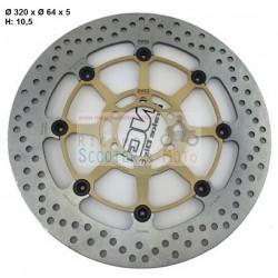 Disco Freno Anteriore Flottante Braking Ng Aprilia Mx Sm 125 2004-2006
