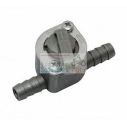 Rubinetto Serbatoio Benzina In Alluminio 2 Uscite Attacco 8 Mm Standard