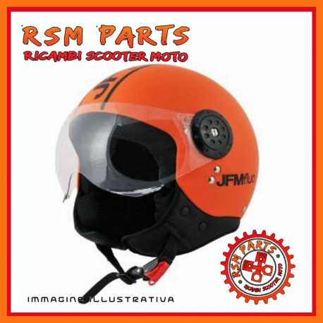 Casque Demi Jet Orange Fluo TG S
