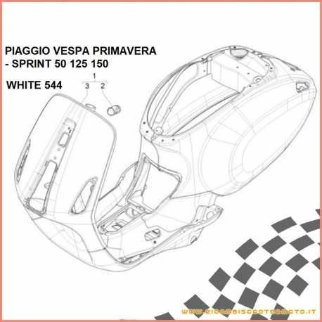 Telaio scocca Bianco 544 Originale Vespa Primavera - Sprint 50 125 150