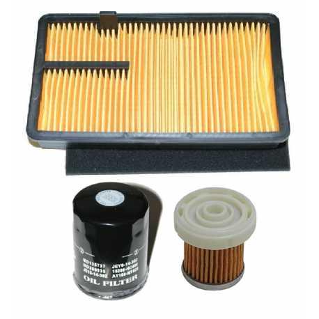 Kit tagliando filtro aria olio gasolio AIXAM 400 KUBOTA 751 MEGA COUPE'