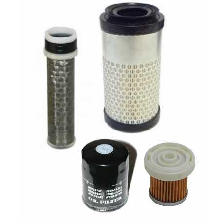 Kit tagliando filtro aria olio gasolio AIXAM motore KUBOTA Z482