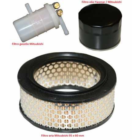 Kit filtro aria olio gasolio MITSUBISHI CASALINI IDEA PICK UP M10 M12
