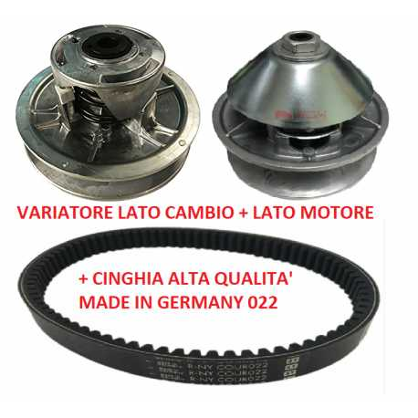 Kit variatore motore cambio e cinghia 022 AIXAM 400.4 500.4 500.5 EVO