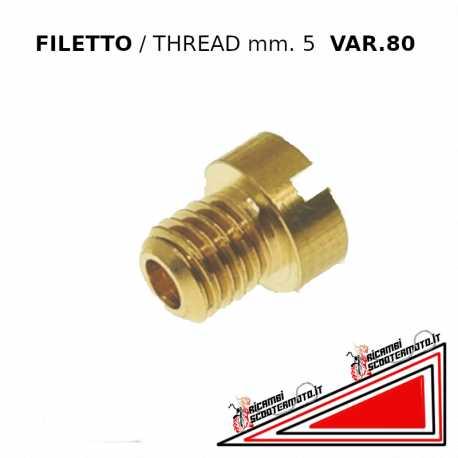 Getto variatore 80 tipo piccolo filetto mm 5 per carburatori