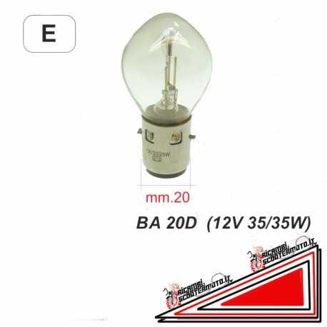 Lampadina biluce BA 20D 12V 35/35W Vespa PK 125 XL ET4 50 LIBERTY 50 ZIP
