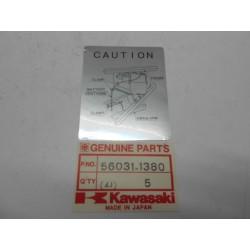Etiqueta adhesiva placa de bateria Kawasaki Klr B6-B9 600 91-94