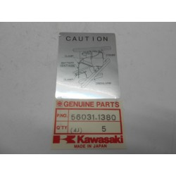 Targhetta Adesiva Batteria Kawasaki Klr B6-B9 600 91-94